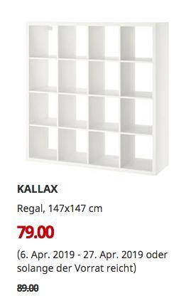 IKEA Magdeburg - KALLAX Regal, weiß, 147x147 cm - jetzt 11% billiger