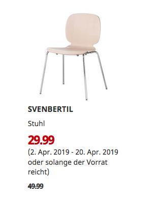 IKEAOsnabrück - SVENBERTIL Stuhl, Birke, Broringe verchromt - jetzt 40% billiger