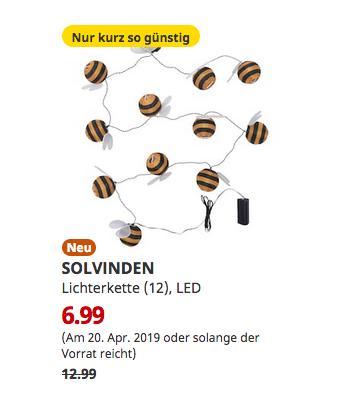 IKEA Siegen - SOLVINDEN Lichterkette (12), LED, batteriebetrieben, Hummel - jetzt 46% billiger