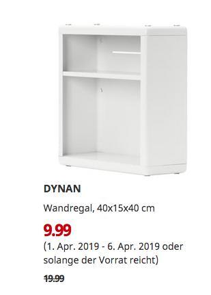 IKEA Würzburg - DYNAN Wandregal, weiß, 40x15x40 cm - jetzt 50% billiger