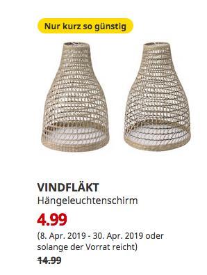 IKEA Wuppertal - VINDFLÄKT Hängeleuchtenschirm - jetzt 67% billiger