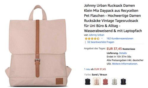 """Johnny Urban """"Mia"""" Damen Tagesrucksack mit Laptopfach, versch. Farben - jetzt 21% billiger"""