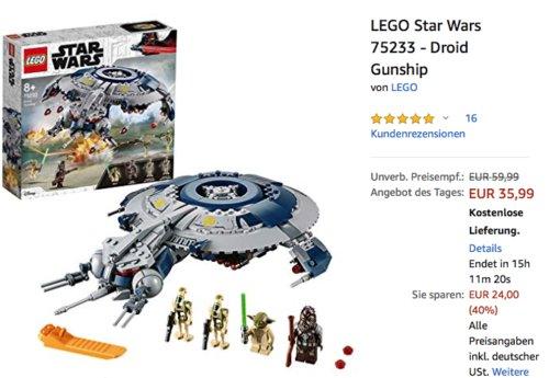 LEGO Star Wars 75233 - Droid Gunship, 389 Teile - jetzt 26% billiger