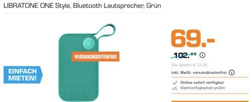 LIBRATONE ONE Style Bluetooth-Lautsprecher, grün - jetzt 19% billiger