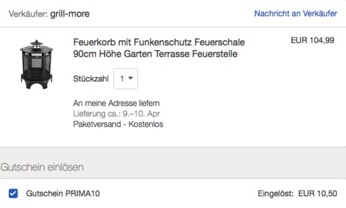 "Mayer Barbecue ""HEIZA Feuerkorb MFK-410"", 66 x 73 x 59 cm - jetzt 10% billiger"
