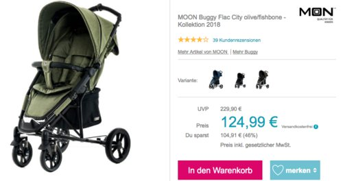 MOON Buggy Flac City olive/fishbone - Kollektion 2018 - jetzt 26% billiger