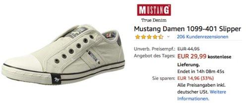 Mustang Damen 1099-401 Slipper, Elfenbein - jetzt 25% billiger