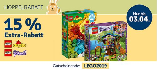 myToys.de 15% Extra-Rabat auf LEGO DUPLO oder LEGO Friends: z.B.  LEGO Schulranzenset Xtreme Lego Friends Popstar, 3-tlg. - jetzt 15% billiger