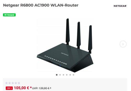 Netgear R6800 AC1900 WLAN-Router, bis 1900 Mbit/s - jetzt 12% billiger