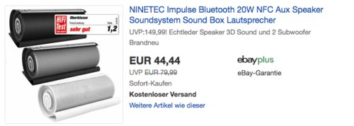 NINETEC Impulse Bluetooth Lautsprecher 20W, versch. Farben - jetzt 11% billiger