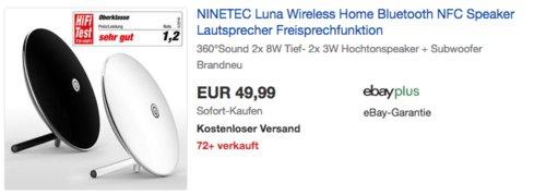 NINETEC Luna Bluetooth-Lautsprecher, weiß oder schwarz - jetzt 29% billiger