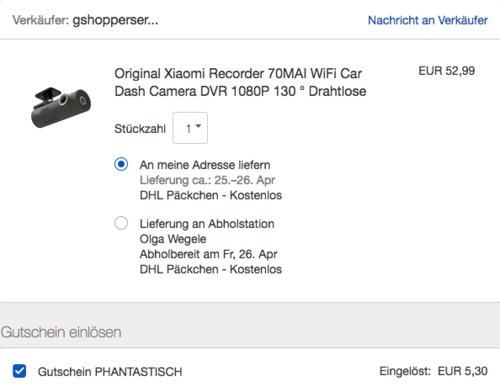 Original Xiaomi Recorder 70MAI WiFi Car Dash, 1080P - jetzt 10% billiger