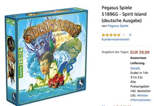 """Pegasus Spiele 51896G """"Spirit Island"""" Kooperative-Brettspiel (deutsche Ausgabe) - jetzt 22% billiger"""