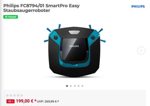 Philips FC8794/01 SmartPro Easy Staubsaugerroboter - jetzt 13% billiger