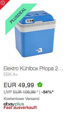 PRIOPA Elektro-Kühlbox 24 Liter, 12V / 230V - jetzt 10% billiger