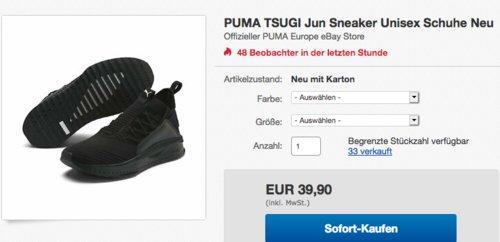 "Puma Herren Sneaker ""Tsugi Jun"", schwarz - jetzt 13% billiger"