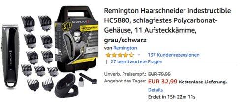 Remington HC5880 Haarschneider mit 11 Aufsteckkämmen - jetzt 27% billiger