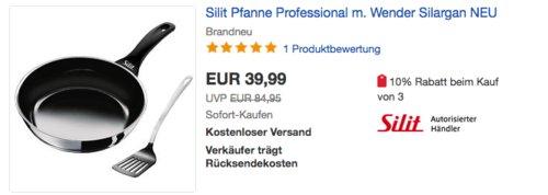 Silit Professional 26 cm Bratpfanne mit Wender - jetzt 15% billiger
