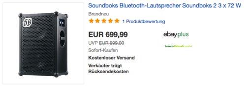 Soundboks 2Bluetooth-Party-Lautsprecher, 3 x 72 W - jetzt 12% billiger