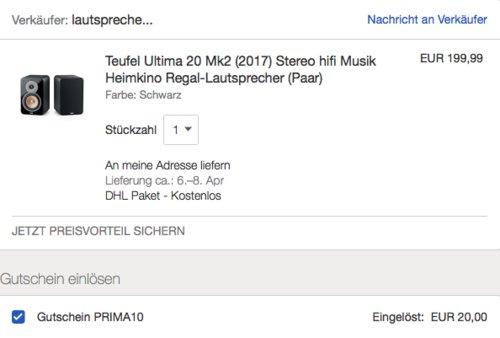 Teufel Ultima 20 Mk2 (2017) Regal-Lautsprecher Doppelpack, schwarz - jetzt 17% billiger