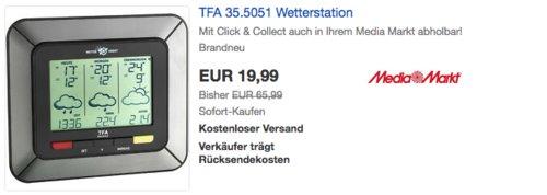 TFA 35.5051 satellitengestützte Funk-Wetterstation - jetzt 60% billiger