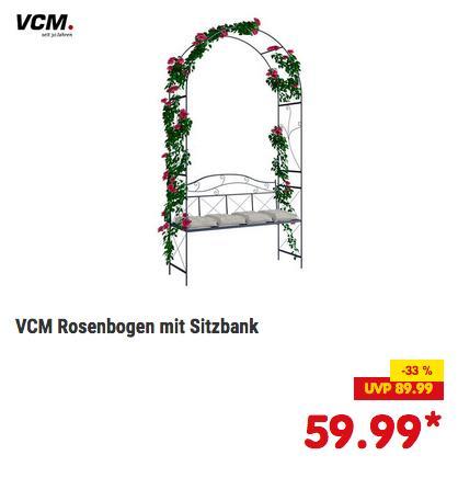 """VCM Rosenbogen/Torbogen """"Buntila"""" 214 cm hoch, schwarz oder weiß - jetzt 14% billiger"""