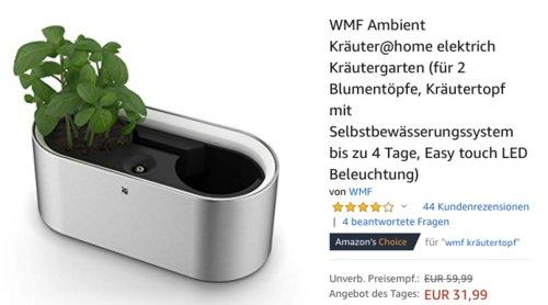 WMF Ambient Kräuter@home, elektrischer Kräutergarten für 2 Blumentöpfe - jetzt 20% billiger