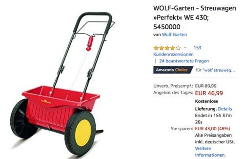 WOLF-Garten - Streuwagen »Perfekt« WE 430, 43 cm Streubreite - jetzt 22% billiger