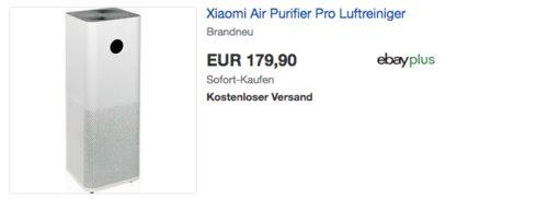 Xiaomi Air Purifier Pro Luftreiniger mit Aktivkohlefilter - jetzt 8% billiger