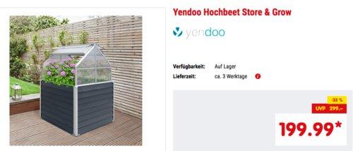 Yendoo Hochbeet Store & Grow mit integriertem Stauraum, 120 x 169 x 120 cm - jetzt 33% billiger