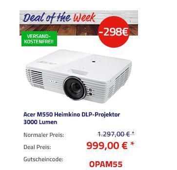 Acer M550 4K UHD Heimkino DLP-Projektor, 3000 Lumen - jetzt 23% billiger