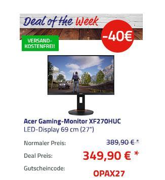 "Acer XF270HUC Gaming-Monitor 69 cm (27""), 1ms, 144Hz - jetzt 10% billiger"
