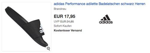 adidas Herren Adilette Shower Dusch- & Badeschuhe Schwarz (36-48) - jetzt 12% billiger