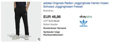 adidas Originals Radkin Herren Jogginghose Schwarz (XS-M) - jetzt 13% billiger