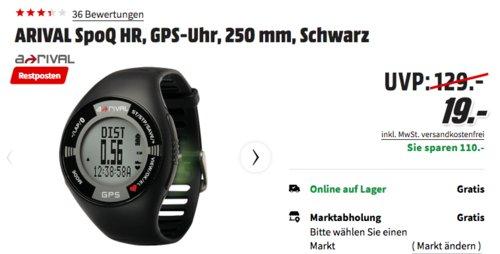 ARIVAL SpoQ HR 250 mm GPS-Uhr, Schwarz - jetzt 64% billiger