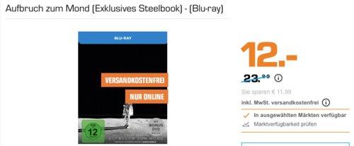 Aufbruch zum Mond (Exklusives Steelbook) - (Blu-ray) - jetzt 50% billiger