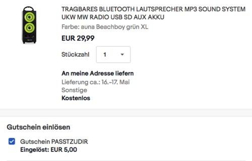 auna BEACHBOY XL tragbare Lautsprecher-Box, versch. Farben - jetzt 17% billiger