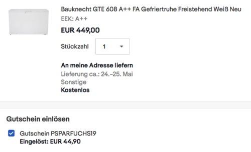 Bauknecht GTE 608 A++ FA Gefriertruhe, 390 Liter - jetzt 10% billiger