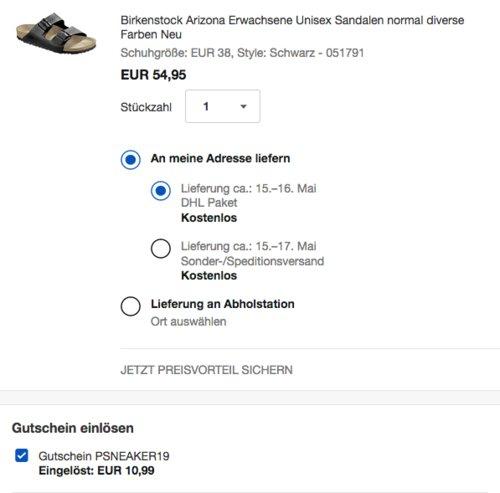 """Birkenstock Unisex Sandalen """"Arizona"""", schwarz - jetzt 20% billiger"""