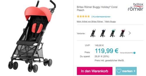 """Britax Römer Buggy """"Holiday²"""" Coral Peach mit Tragegurt - jetzt 20% billiger"""