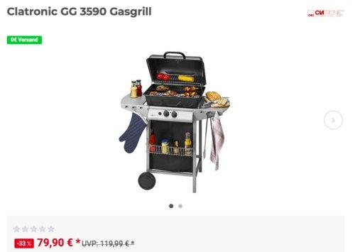 Clatronic GG 3590 Gasgrill, 2x 2,75 kW - jetzt 8% billiger
