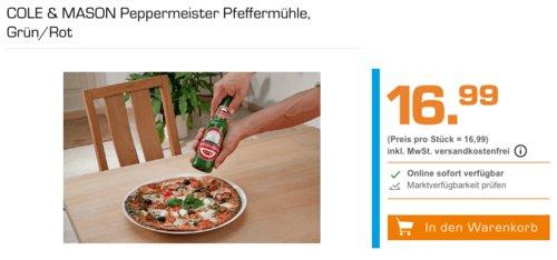 COLE & MASON Peppermeister Holz-Pfeffermühle in Bierflaschen-Optik - jetzt 26% billiger