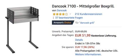 Dancook 7100 Boxgrill/Holzkohlegrill, 79 x 65 x 32 cm - jetzt 13% billiger