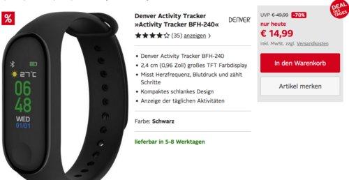 """Denver Activity Tracker """"BFH-240"""", schwarz - jetzt 12% billiger"""