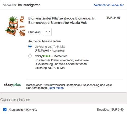 DEUBA Blumentreppe 3 Stufen aus Akazienholz - jetzt 10% billiger