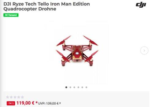 "DJI Ryze Tech ""Tello Iron Man Edition"" Drohne - jetzt 14% billiger"