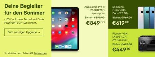 Ebay - 10% Rabatt auf ausgewählte Elektronik: z.B. Denon AVR-X1500H 7.2 AV Receiver - jetzt 10% billiger