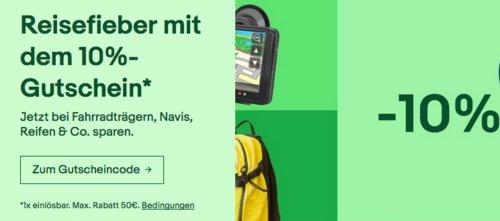 Ebay - 10% Rabatt auf Auto-, Outdoor-, Reisezubehör-Artikel und Reisegutscheine: z.B. Brunner Devil BBQ Tisch-Gasgrill 2019, grün - jetzt 10% billiger