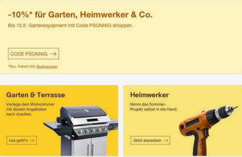 """Ebay - 10% Rabatt auf Garten, Terrasse und Heimwerker: z.B. Deuba Gartenbank """"Orchidea"""" 3 Sitzer - jetzt 10% billiger"""