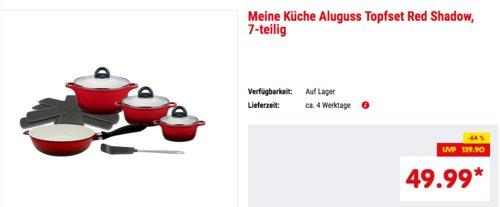 """ELO Meine Küche Aluguss-Topfset """"Red Shadow"""", 7-teilig - jetzt 17% billiger"""
